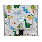 Carats Car Seat Cooler for Baby with COOLTECH - Baby Car Seat Cooling Pad (Dino Grey)