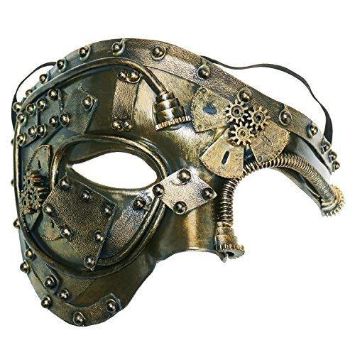 Coddsmz Máscara de Disfraces Steampunk Phantom of The Opera Máscara de Fiesta Veneciana mecánica