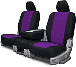 Custom Fit Seat Covers for Mercedes 500SL-600SL Front Low Back Seats - Purple Neo-Sport Fabric