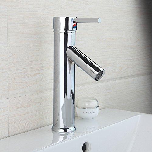 Retro Deluxe FaucetingDeluxe Ouboni badkraan wastafel waterkraan eenhandgreep gat 8051B waterkraan verchroomd messing Torneira waterkraan vaas Robinet Chrome Wit.