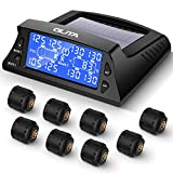 GUTA Tire Pressure Monitoring System - 8 Sensors, 7 Alarm Modes, Large Screen, Endurance Battery Life, Long Sensing Distance, Wireless Sensor Pairing, 2021 Update Version