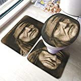 Biooker Bath Mats, Willie Nelson Spirit Durable Bathroom Rug Mats Set 3 Piece Anti-Skid Pads Bath...