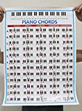 Amazthing Copper Paper Piano Chords Chart or Poster (22'x16') Music Instrument Accessory(correct version)