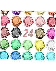 Mica Powder 24 färger Resin Pigment Dye naturliga pigment epoxiharts Dye Making Kit för DIY hantverk