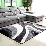 qazxsw Fusselfreies Wohnzimmer rutschfeste Teppichstreifen Schlafzimmer Bettmatten Verdickte helle Seidenteppiche im modernen Stil