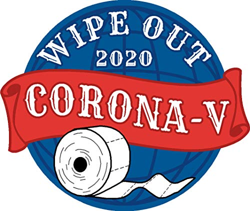 wipe out, covid 19, planet, half circle,toilet paper, tp, covid, corona-v, coronavirus, I Make Decals, 3 inch high X 3.5 inch wide, hard hat, tool, lunch, box, Vinyl, Decal, Sticker