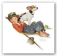 ノーマン・ロックウェルの冒険家間の冒険 アートプリントポスター 8インチx10インチ