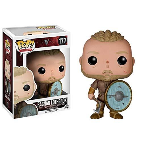 YYBB ¡Popular!TV: Figura de acción Vikings Ragnar Lothbrok for la Colección Figuras Anime Regalos de Juguetes 3,9 Pulgadas Figurines