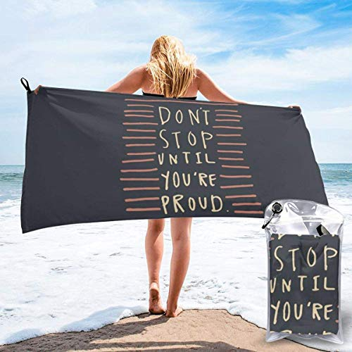shenguang Sand Free Beach Towels, Microfiber Portable Compact Bath Towels, Don't Stop Quick Dry Super Lightweight Towel Blanket with A Carrying Bag
