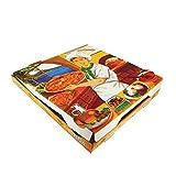 """100 uds - Caja para pizza diseño""""Vesubio"""" - tamaño 33x33x3,5 cm - Anónimas - Cartón microcanal de alta calidad 100% reciclable y compostable"""