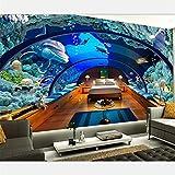 Papel Tapiz Personalizado Grande Y Lujoso Mundo Submarino Acuario 3D Fondo Pintura De Pared Sala De Estar Decoración De Pared-430 * 300Cm