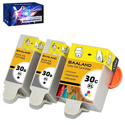 BAALAND Compatible Kodak 30XL Ink Cartridges 3 Combo Pack (2 Black, 1 Color) Use for Kodak ESP 3.2, C110, C310, C315, Office 2150, Office 2170, Hero 3.1 Hero 5.1 Series Printers 1550532 1341080