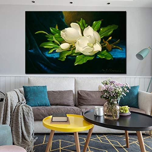 Mulan Art Painting on Blue Velvet Cloth Poster on Canvas for Living Room,Peinture sans Cadre,60X90cm