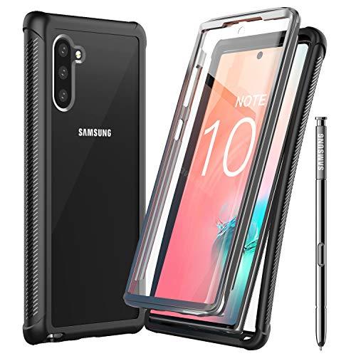 Temdan Samsung Galaxy Note 10 5G Hülle, Stoßfest Transparent 360 Grad mit Eingebautem Bildschirmschutz Armor Schutzhülle für Samsung Galaxy Note 10 5G, Keine Unterstützung der Fingerabdruck Entsperrung