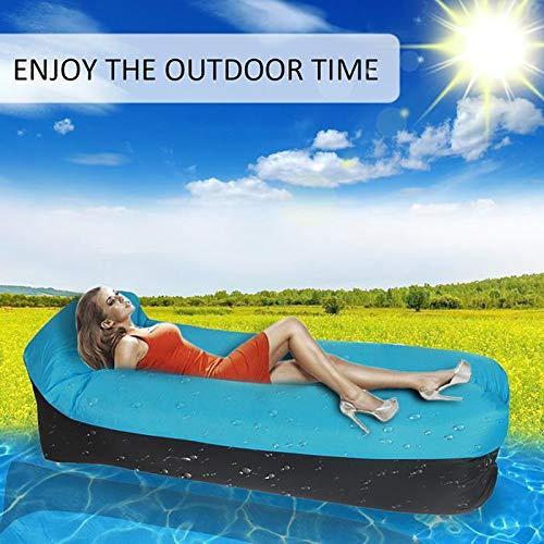 AMTSKR - Saco de dormir hinchable para exteriores, inflable, para sofá, cama inflable, bolsa de aire floja, tumbona y colchón de aire