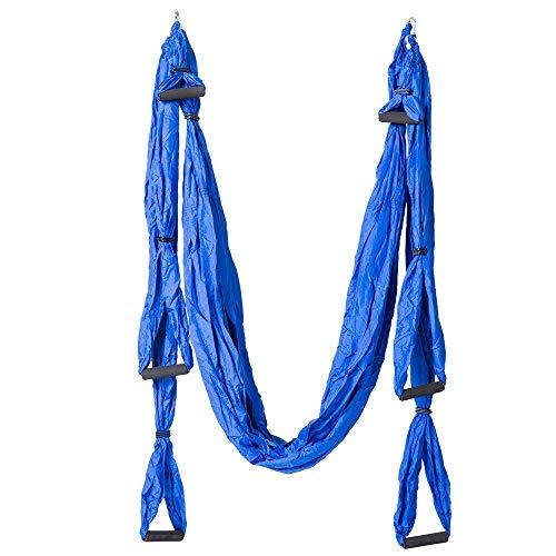 Bureze Aerial Yoga Swing Hamac volant anti-gravité 6 poignées pour chaise suspendue Ultra résistant pour inversion de fitness