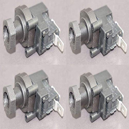(Paquete de 4) – Interruptor de presión para Spa/Hot Tub Bomba de baño y residuos de residuos de alimentos basura basura desagüe neumático interruptor, interruptor de presión del calentador de aire