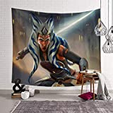 Decorazione per camera da letto, soggiorno, Star Wars Movie Theme Art Ahsoka Tano Tovaglie 180 x 230 cm
