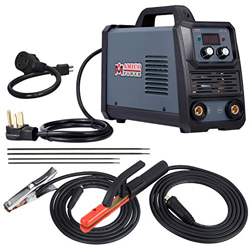 Amico ARC-200, 5-200 Amp Stick Arc Lift-TIG Combo Welder, 100-250V Wide Voltage Welding, 80% Duty Cycle, Compatible with all Electrodes: E6010 E6011 E6013 E7014 E7018 etc.