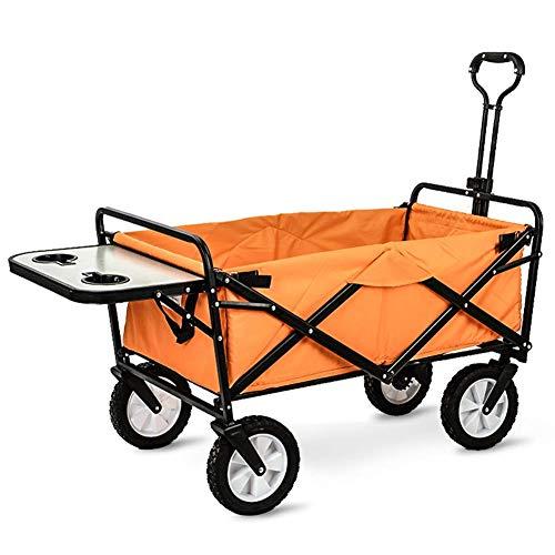 Trolley Wagon, Zusammenlegbarer Outdoor Utility Wagon Mit Klapptisch Und Getränkehaltern, Für Camping Shopping Beach Park,c