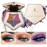 Mimore 5 colores de sombra de ojos con purpurina, sombra de ojos a prueba de agua,sombra de ojos ahumada de bronce de larga duración, juego de sombras de ojos mate y con purpurina, portátil(02)