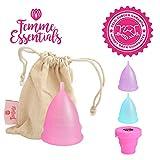 Femme Essentials Menstruationstasse - Diskret und Hygienische Menstruationskappe - aus