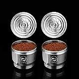 Cápsula de café Nespresso de Acero Inoxidable rellenable de Cafilas - Cápsula de Repuesto Reutilizable para Nespresso, Compatible con Nespresso