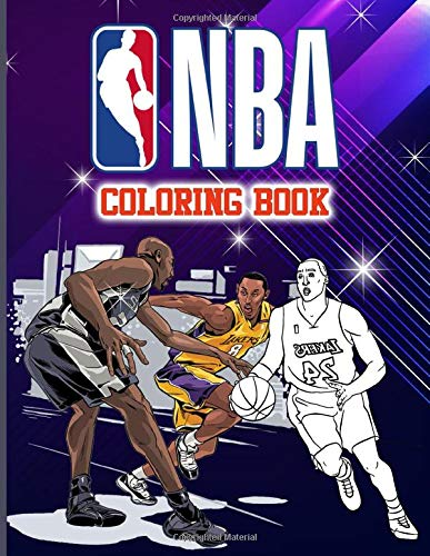 Nba Coloring Book: Nba Anxiety Coloring Books For Adults, Teenagers - Relaxation