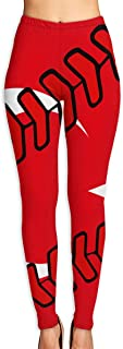 Yoga Pants, Women's Power Flex Turkey Flag Baseball Clip Art Yoga Capris Tummy Control Workout Running Leggings