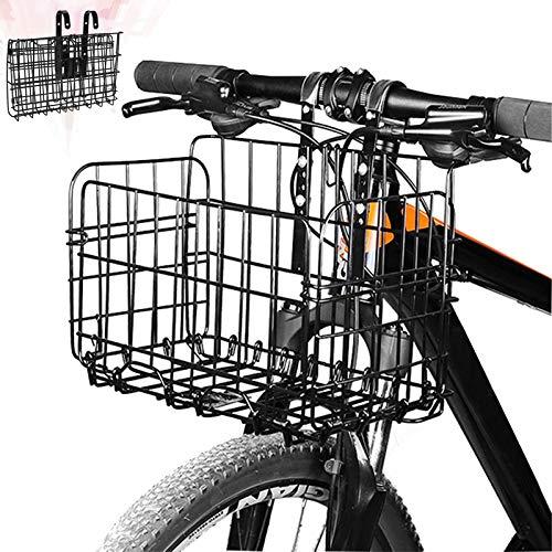 Fahrradkorb Vorne,Zusammenklappbarer Fahrradkorb, für Mountainbike-Zubehör,Fahrradrahmenkorb,Aufbewahrungskorb