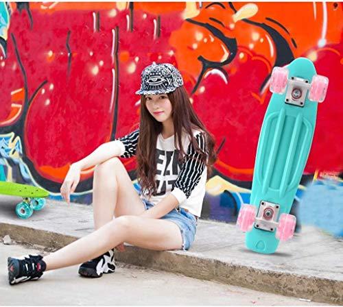 Xiaokang Skateboard Little Fish Board Four Wheel Skateboard Principiante Adulto Niño Niño Juvenil Scooter Profesional,A