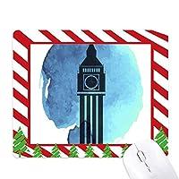 ビッグベンロンドン・イングランド英国英国 ゴムクリスマスキャンディマウスパッド