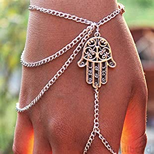 5starwarehouse® Retro Hamsa Hand Bracelet Fatima Slave Hand Chain Finger Ring Jewellery A002:Hotviral