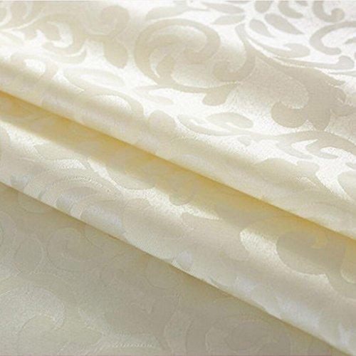 MXJ61 Jacquard Bouche Tissu Fleurs Pliantes Napperon Essuyer La Tasse Serviette Hôtel 48 * 48cm ( Couleur : Beige , taille : 10 Pcs/Set )