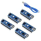 Micro placa controladora Mini Nano Board Módulo CH340 USB Chip Mini Cable USB Azul Compatible con Nano ATmega328P 5PCS