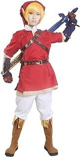 Men's Link Cosplay Costume Red