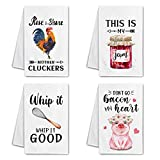 Hexagram Funny Kitchen Towels and Dishcloths...