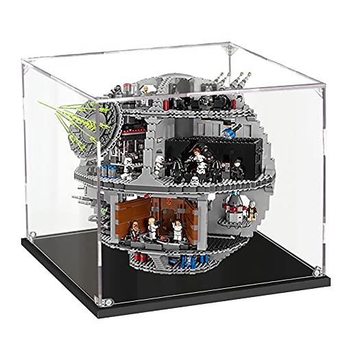 LODIY 3mm Acryl Vitrine Schaukasten für Lego Todesstern 75159 Death Star - Vitrine Display Case Schaukasten für Lego 75159 (Nicht Enthalten Lego Modell)