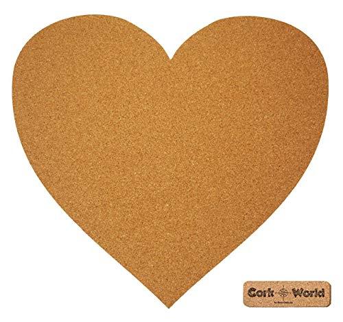 Hart kurk XXL 60 x 60 cm   hart om te prikken en als wanddecoratie   geweldig CORKWORLD prikbord   nauwkeurig & hoogwaardig   Voor romantische en decoratieve liefhebbers – kurk