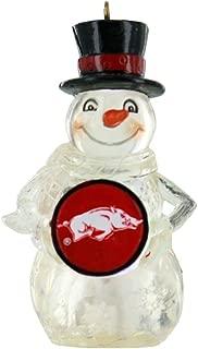 Team Sports America University of Arkansas Snowman LED Holiday Ornament