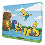 Cartoon The Simpsons Gaming Mouse Mat Pad Unique Custom Mousepad, Computer Keyboard, Stitched Edges, Office Ideal for Desk Cover, Large Mouse Pats, Laptop and PC 10 X 12 Inch