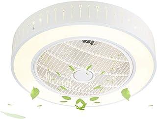 SJUN Ventiladores de techo con lámpara LED Luz de techo Moderno ventilador de techo redondo luces led Adecuado para la habitación de los niños Dormitorio sala de estar Cocina Lámpara de techo interior