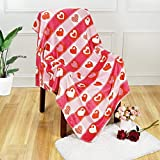 ASPMIZ Love Heart Throw Blanket, Mother's Day Valentine's Day Blanket for Mom Girlfriend Gifts, Soft Flannel Blanket Throw, Warm Cozy Blanket for Couch Bedding Sofa Bedroom, Red, 50 x 60 inch