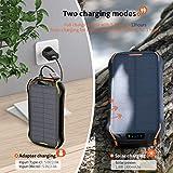 elzle Chargeur Solaire 26800mAh, Solar Power Bank 15W (5V / 3A) Sortie Charge Rapide étanche à...