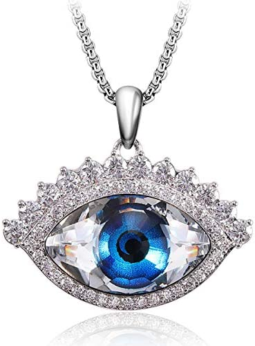 Evil Eye Necklace Richapex Blue Crystal Necklace Evil Eye Pendant for Neklace Christmas Gift product image