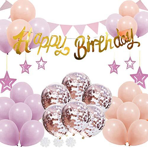 誕生日 デコレーションセット バルーン バルーンピンク 誕生日おめでとうございます 生日 パーティー 男の女の子