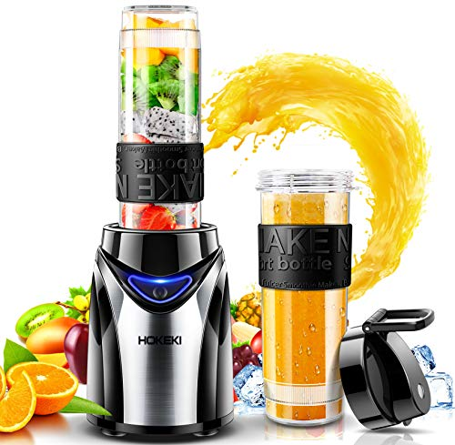 Portable Blender, HOKEKI Personal Blender for Shakes and Smoothies Mini Electric Food Blenders with Travel Lid for Sports,Travel,Gym,20 oz