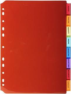 Exacompta - Réf. 3908E - Intercalaires PP transparent couleurs avec onglets porte étiquette - 8 positions - A4 21x29,7cm