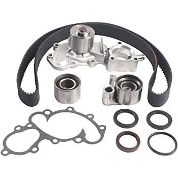 Timing Belt Water Pump Kit W//Serpentine Belt Compatible with 1995-1998 Toyota T100丨2000-2004 Toyota Tundra丨1996-2002 Toyota 4Runner丨1995-2004 Toyota Tacoma 3.4L V6 DOHC