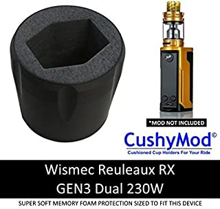 Wismec Reuleaux RX GEN3 Dual 230W CUP HOLDER by CushyMod cover wrap skin sleeve case car mod vape kit